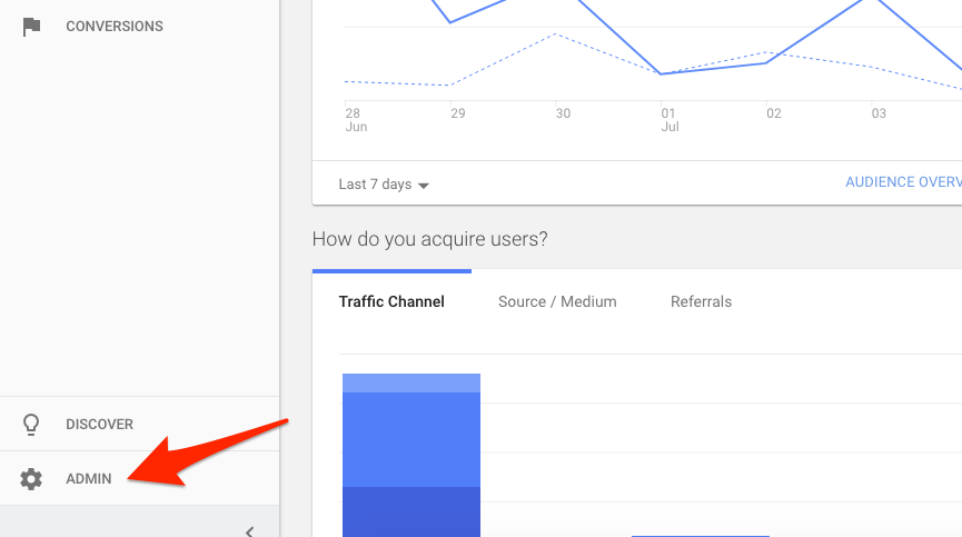 Create a goal in Google Analytics 1